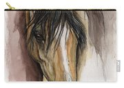 Palomino Arabian Horse Watercolor Portrait Carry-all Pouch