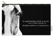 Palomino Art Quote Carry-all Pouch