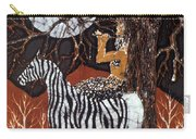 Pan Calls The Moon From Zebra Carry-all Pouch by Carol Law Conklin