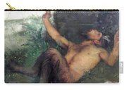 Pan Whistling At A Blackbird 1863 Carry-all Pouch