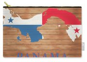 Panama Rustic Map On Wood Carry-all Pouch