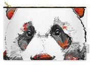 Panda Bear Art - Black White Red - By Sharon Cummings Carry-all Pouch