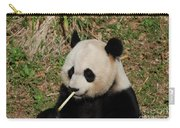 Panda Bear Eating Bamboo Shoots Up Close And Personal Carry-all Pouch
