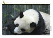 Panda Bear Sleeping On A Fallen Tree Branch Carry-all Pouch