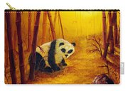 Panda In Sunset Bamboo Carry-all Pouch