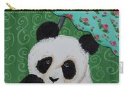 Panda In The Rain Carry-all Pouch
