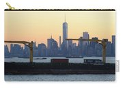 Panorama New York City Skyline With Passing Container Ship Carry-all Pouch