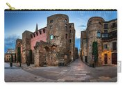 Panorama Of Ancient Roman Gate And Placa Nova In The Morning, Ba Carry-all Pouch