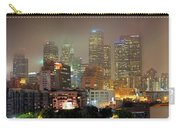 Panorama Of Downtown Los Angeles In The Fog Carry-all Pouch