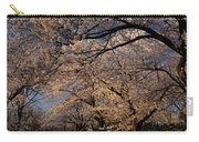 Panorama Of Forest Of Sakura Japanese Flowering Cherry Trees Wit Carry-all Pouch
