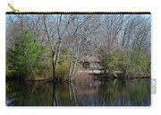 Panorama Of Lake, Trees And Cabin Carry-all Pouch