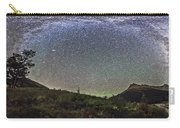 Panorama Of Milky Way Over Red Rock Carry-all Pouch