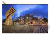 Panorama Of Placa De Catalunya In The Morning, Barcelona, Spain Carry-all Pouch