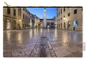 Panorama Of Stradun Street And Luza Square In Dubrovnik, Dalmati Carry-all Pouch