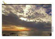 Panorama Of The Sunset In Caesarea Carry-all Pouch