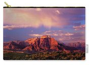 Panorama West Temple At Sunset Zion Natonal Park Carry-all Pouch