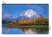 Panoramic Autumn Morning Oxbow Bend Grand Tetons National Park Carry-all Pouch