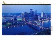 Panoramic Evening View Of Pittsburgh Carry-all Pouch