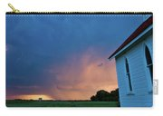 Panoramic Lightning Storm And Church Carry-all Pouch