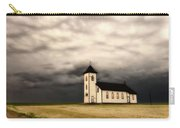 Panoramic Lightning Storm And Prairie Church Carry-all Pouch