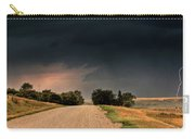 Panoramic Lightning Storm In The Prairie Carry-all Pouch