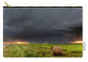Panoramic Lightning Storm In The Prairies Carry-all Pouch