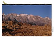 Panoramic Moon Set Alabama Hills Eastern Sierras California Carry-all Pouch