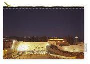 Panoramic Night View Of The Wailing Wall  Carry-all Pouch