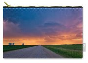 Panoramic Prairie Lightning Storm Carry-all Pouch