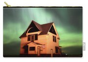 Panoramic Prairie Northern Lights And House Carry-all Pouch