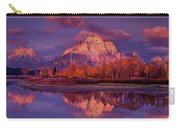 Panoramic Sunrise Oxbow Bend Grand Tetons National Park Carry-all Pouch
