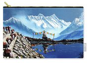 Panoramic View Of Annapurna Mountain Nepal Carry-all Pouch