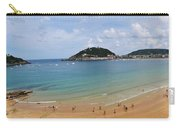 Panoramic View Of Beautiful Beach, San Sebastian, Spain  Carry-all Pouch