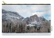 Panoramic View Of Snowed Peaks In Yosemite Park With Snow On The Carry-all Pouch