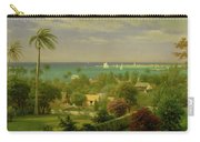 Panoramic View Of The Harbour At Nassau In The Bahamas Carry-all Pouch by Albert Bierstadt