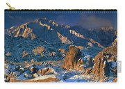 Panoramic Winter In The Alabama Hills Eastern Sierras California Carry-all Pouch