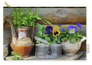 Pansies In Pots Carry-all Pouch