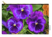 Pansies In Purple And Blue Carry-all Pouch
