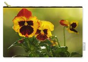 Pansies In The Autumn Glow Carry-all Pouch