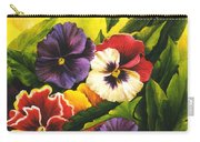 Pansies Or Vuela Mis Pensamientos Carry-all Pouch