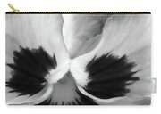 Pansy 10 Bw - Thoughts Of You Carry-all Pouch
