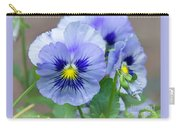 Pansy Flowers Carry-all Pouch