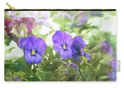 Pansy Impressions Carry-all Pouch