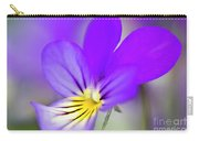 Pansy Violet Carry-all Pouch