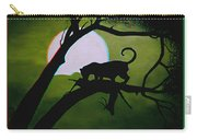 Panther Silhouette - Use Red-cyan 3d Glasses Carry-all Pouch