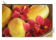Papaya Fruit And Hibiscus Carry-all Pouch