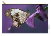 Papilio Dardanus On Violet Flowers Carry-all Pouch