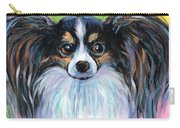 Papillon Dog Painting Carry-all Pouch