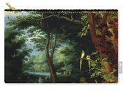 Paradise Scene With Adam And Eve Carry-all Pouch