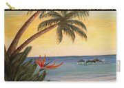 Paradise With Dolphins Carry-all Pouch